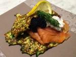 Zucchini Blinis with Salmon