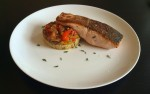Salmon and Piperade Basquaise