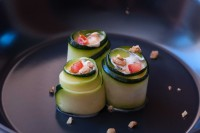 Stuffed Marinated Courgette Rolls