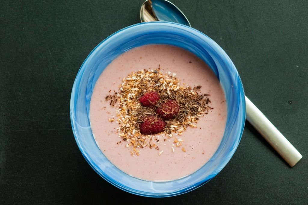 Chilled Strawberry Coconut Dessert Soup DSC_7435