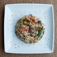 Wild rice spinach chorizo 0282