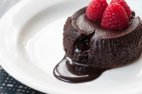 Chocolate Fondant w Raspberry Surprise