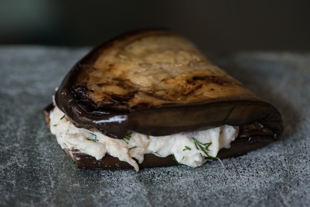 151230 Grilled Aubergine and Crab Starter-0991