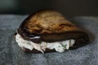 Grilled Aubergine w Crab