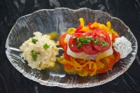 Tomato Cod w Saffron Vegetables
