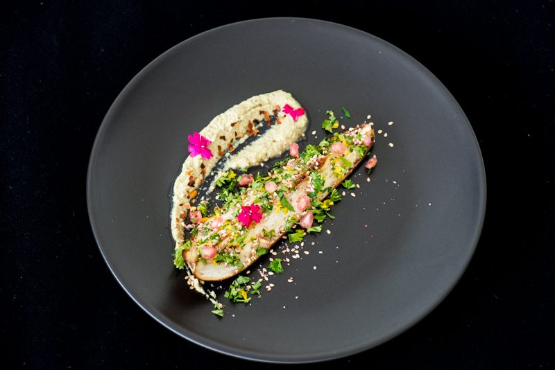 Baked Aubergine with Pistachio Yoghurt-2028